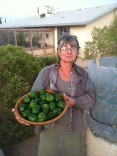 Janet with her harvest from her Goodyear Garden