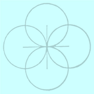 blue web petal